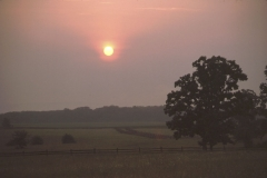 Sunset at Gettysburg Battlefield